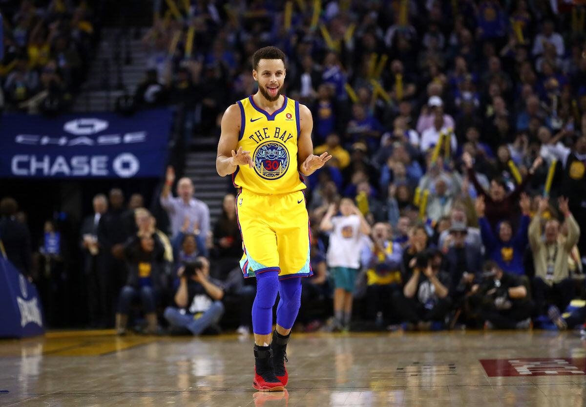 Golden State Warriors star Stephen Curry. Photo by Ezra Shaw/Getty Images.