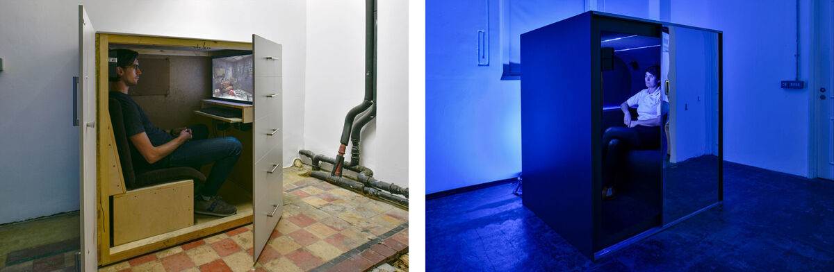 Installation views Jon Rafman, 2015 at Zabludowicz Collection, London. Photo byThierry Bal.