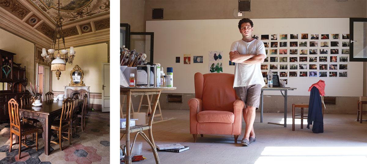 Left: Photo by Frederik Vercruysse. Right: Kon Trubkovich. Photo by Wilf Speller. Courtesy of Villa Lena.