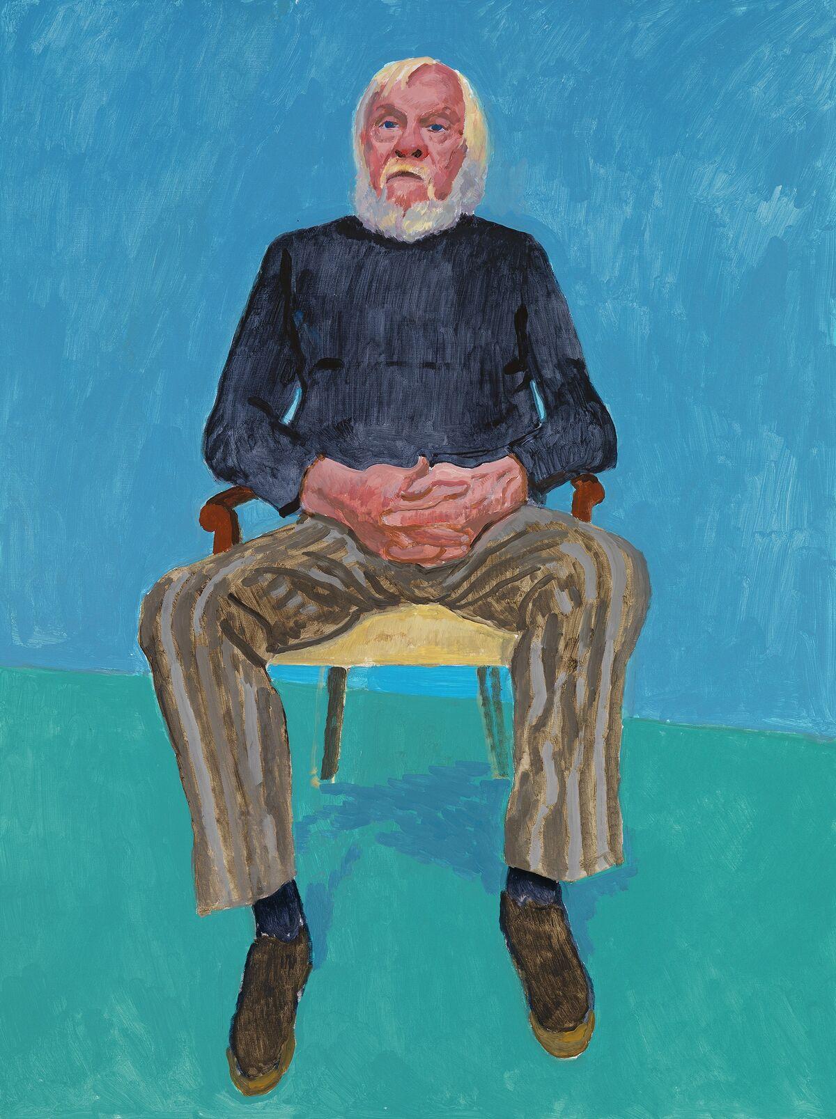 "David Hockney, John Baldessari, 13th, 16th December 2013, 2013, from ""82 Portraits and 1 Still-life."" © David Hockney. Photo by Richard Schmidt. Courtesy of the Los Angeles Museum of Art."