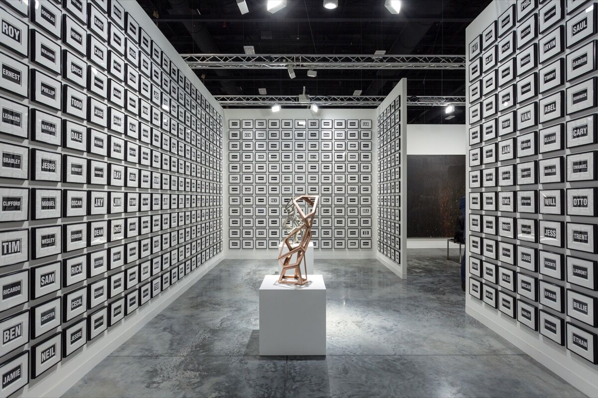 Installation view of Galerie Thomas Schulte's booth at Art Basel in Miami Beach, 2017. Photo by Alain Almiñana for Artsy.