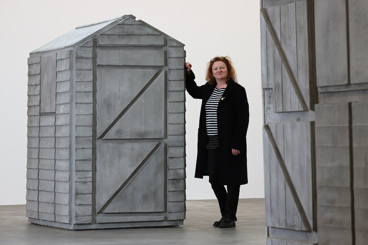 Rachel Whiteread in her 2013 exhibition at Gagosian Gallery on Britannia Street. Photo by Dan Kitwood/Getty Images.