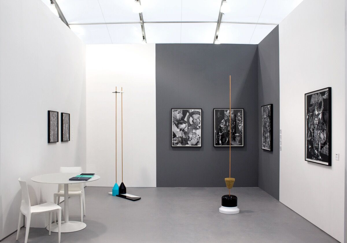 Installation view of Shulamit Nazarian's booth at UNTITLED, Miami Beach, 2016. Photo courtesy of the gallery.