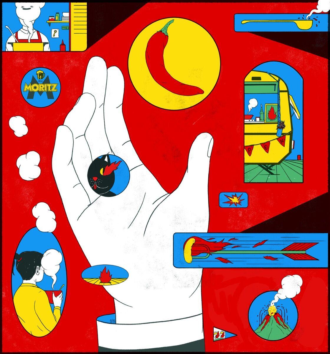 Cristina Daura, Illustration for Eat Street. Courtesy of the artist.