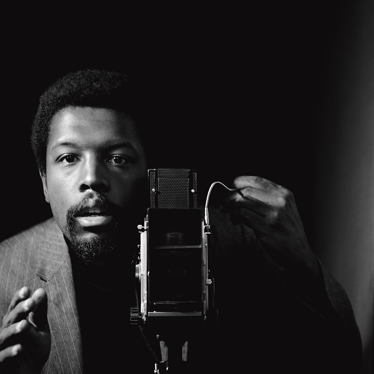 Kwame Brathwaite, Self-portrait, African Jazz-Art Society & Studios (AJASS), Harlem, ca. 1964, from Kwame Brathwaite: Black Is Beautiful, Aperture, 2019. © Kwame Brathwaite.