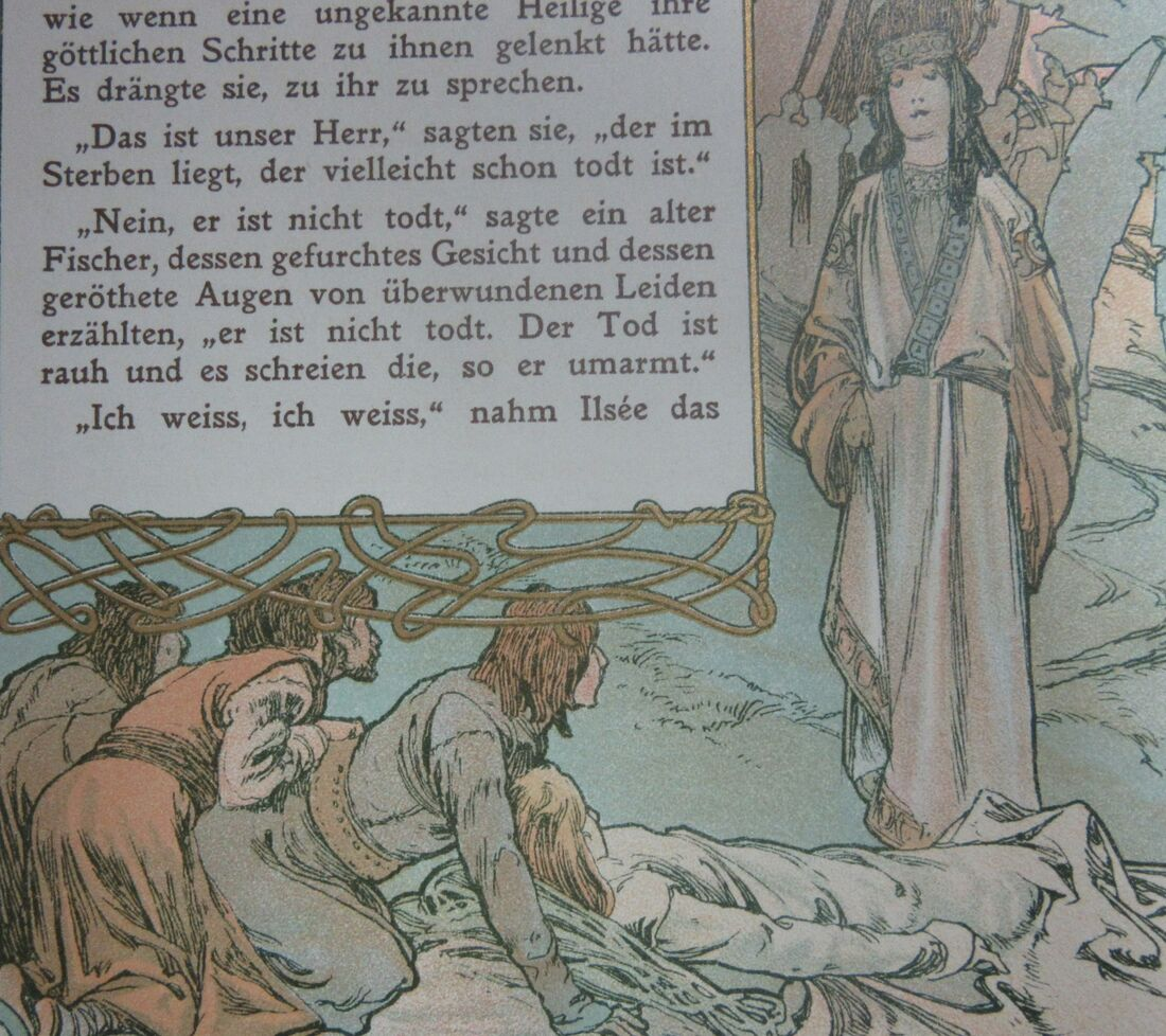 Ilsee meets the pilgrims and the dying Jaufre.