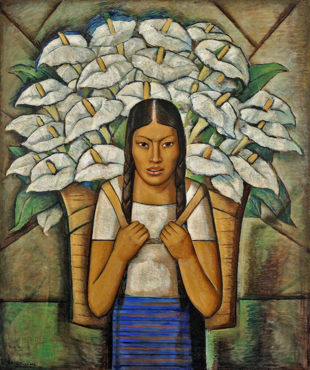 Alfredo Ramos Martínez, Vendedora de Alcatraces, 1929. © Proyecto de investigación Alfredo Ramos Martínez.  Cortesía del Museo Whitney de Arte Americano.