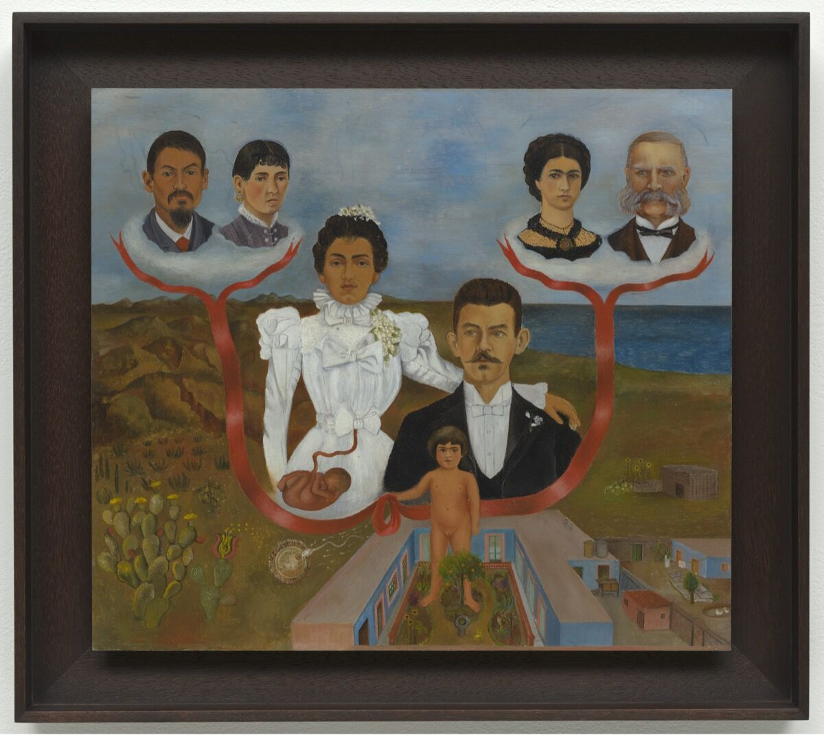 Frida Kahlo, My Grandparents, My Parents, and I (Family Tree), 1936. © ARS, NY. © The Museum of Modern Art/Licensed by SCALA / Art Resource, NY. Courtesy of The Museum of Modern Art.