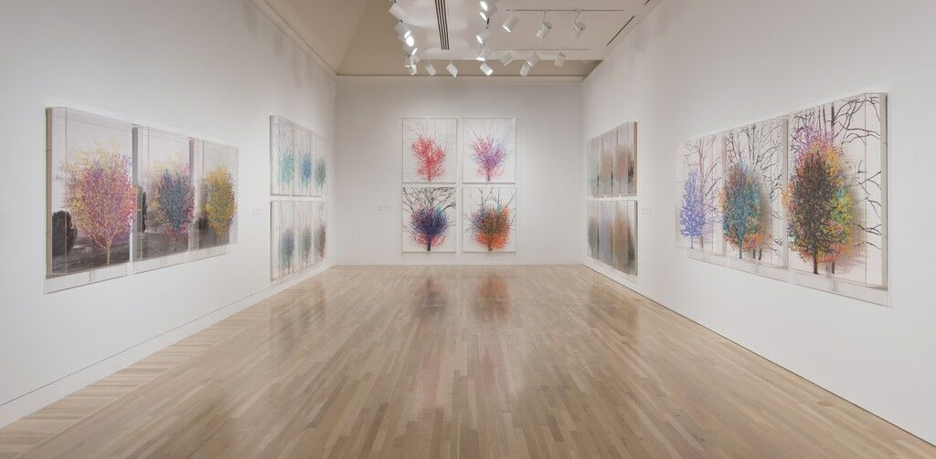 """Installation view of""""Charles Gaines: Gridwork 1974-1989"""" at the Hammer Museum, Los Angeles. Photo by Stefanie Keenan/Getty Images."""