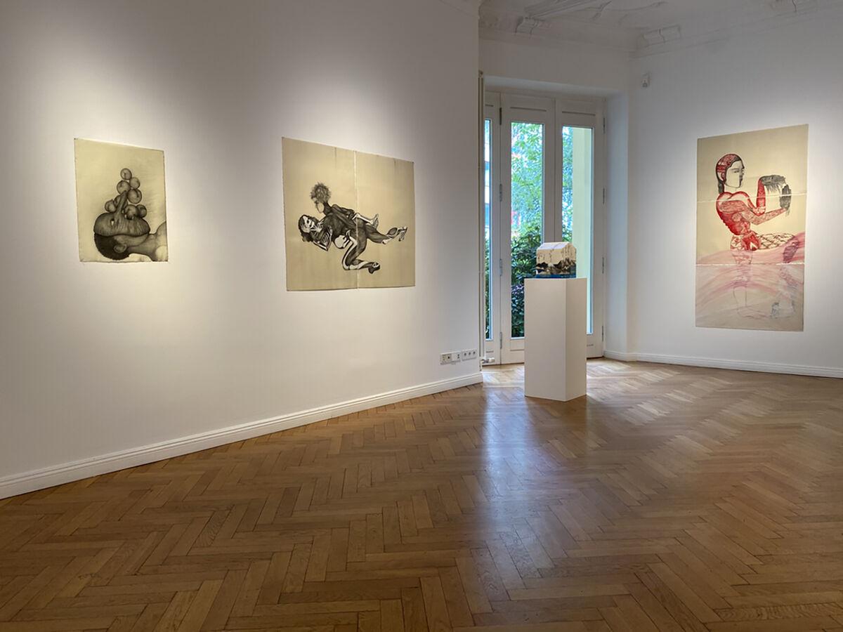 """Sandra Vásquez de la Horra, installation view of """"El Viaje Imaginario"""" at Galerie Michael Haas, 2020. Courtesy of Galerie Michael Haas, Charlottenburg."""