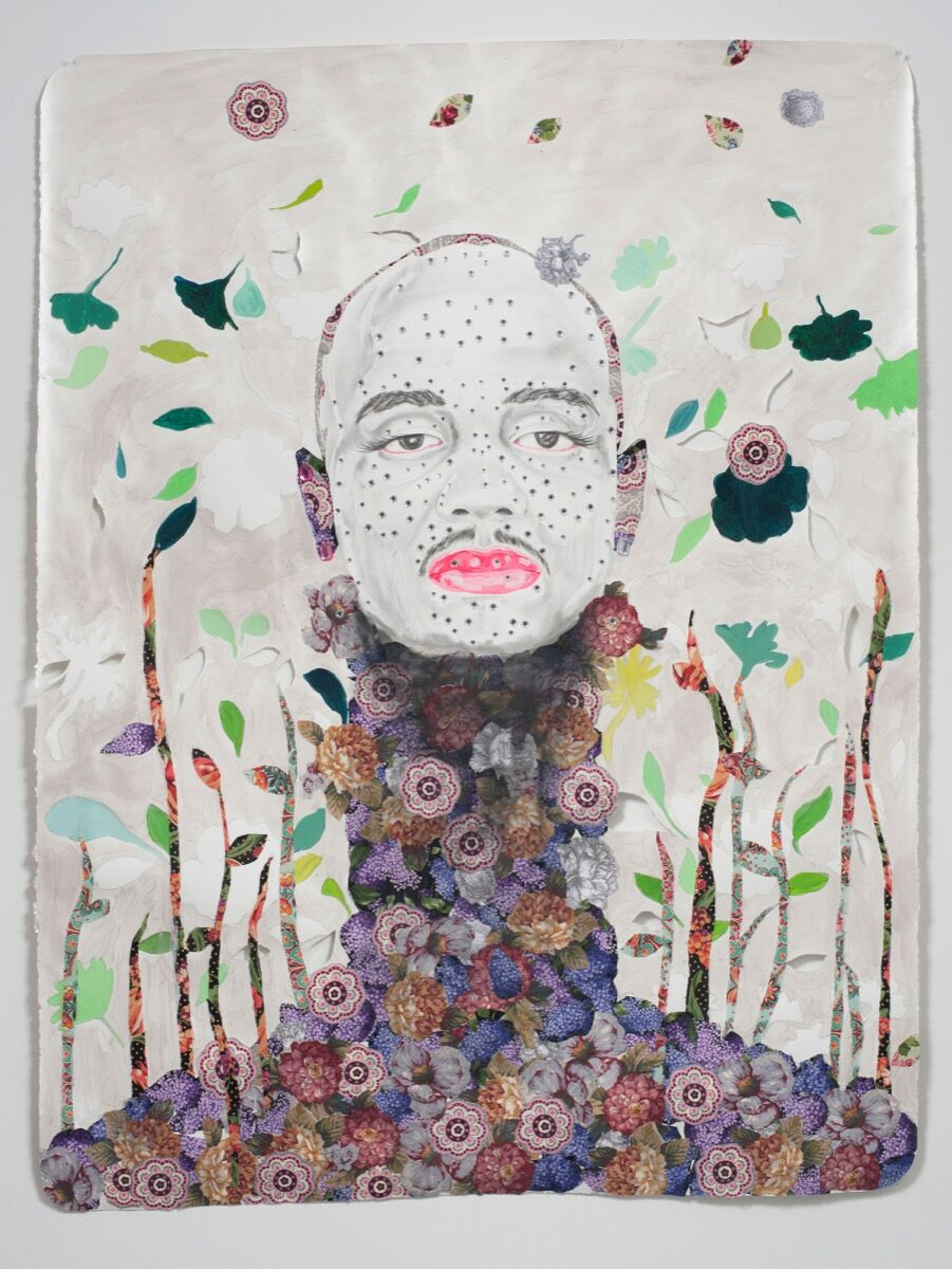 Ebony G. Patterson, Untitled Species VIII (Ruff)..., 2012. Courtesy of the artist and Monique Meloche Gallery, Chicago.