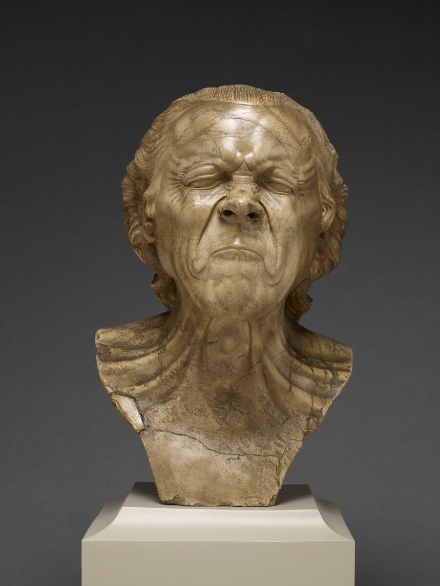 Franz Xaver Messerschmidt, The Vexed Man, 1771–1783. Courtesy of the J. Paul Getty Museum.