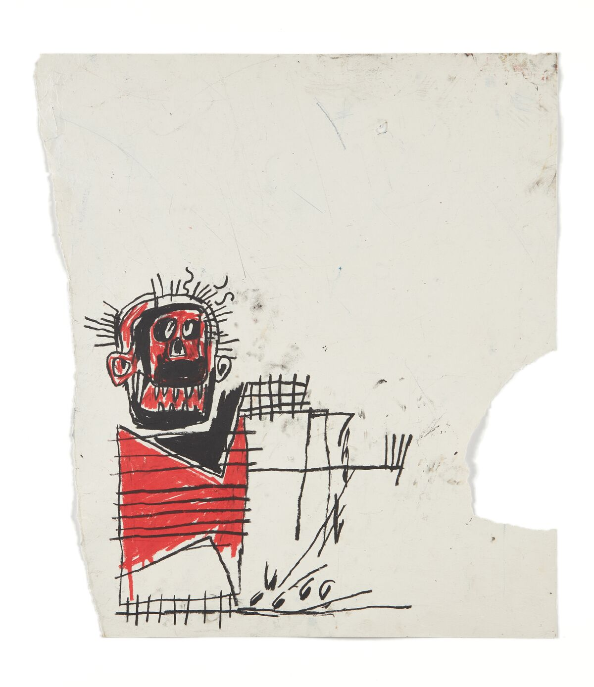 Jean-Michel Basquiat, Untitled (Red/black Figure), 1982. Courtesy of Phillips.