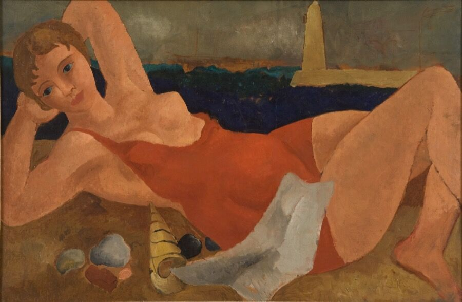 Christopher Wood, The Bather (1925-26). Image courtesy of Jerwood Gallery.