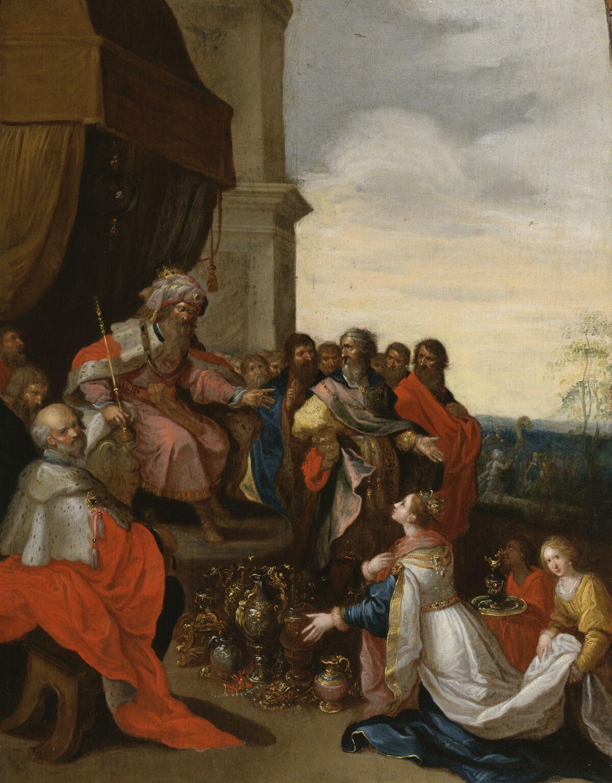 Frans Franken II, King Solomon Receiving the Queen of Sheba, ca. 1620–29. Courtesy of the Walters Art Museum.
