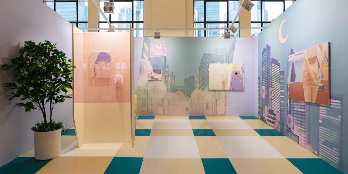 Installation view of Blindspot Gallery's booth at Art021, 2018. Courtesy of Blindspot Gallery.