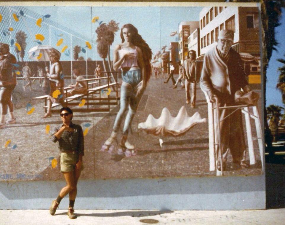 Rip Cronk, Venus on the Half Shell, 1981, at Venice Beach, CA, 1983. Photo by Rob Corder, via Flickr.