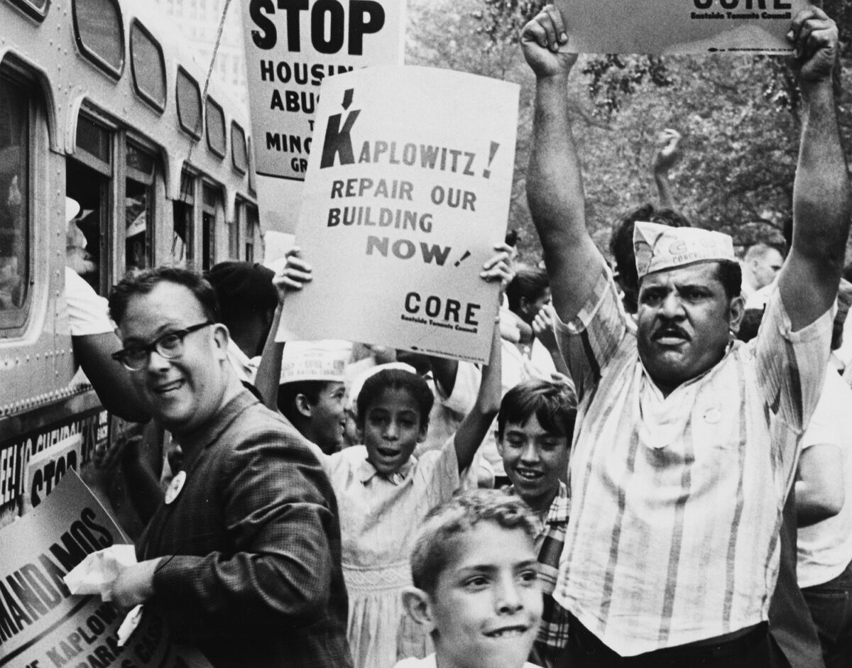 C.O.R.E Demonstration for Fair Housing, August 21, 1963. Courtesy of the New York City Department of Records & Information Services.