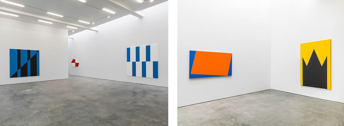 Installation views of Carmen Herrera at Lisson Gallery, New York, 2016. Photos courtesy of Lisson Gallery.