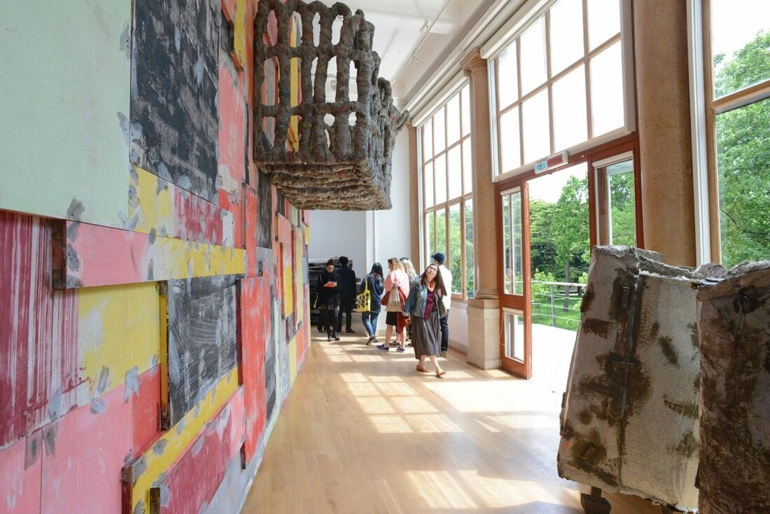 "Installation view of Phyllida Barlow, ""folly,""  for the United Kingdom Pavilion at the 57th Venice Biennale, 2017. Photo by Casey Kelbaugh for Artsy."