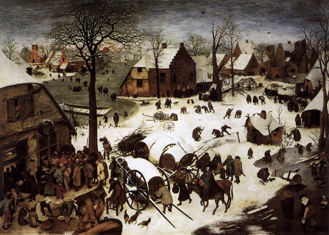 Pieter Bruegel the Elder, The Census at Bethlehem, 1566. Image via Wikimedia Commons.