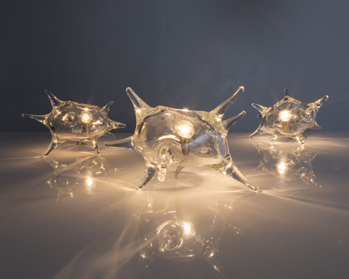 "Jeff Zimmerman, Unique ""Amoeba"" Illuminated Sculpture, 2015. Courtesy ofR & Company and the artist."