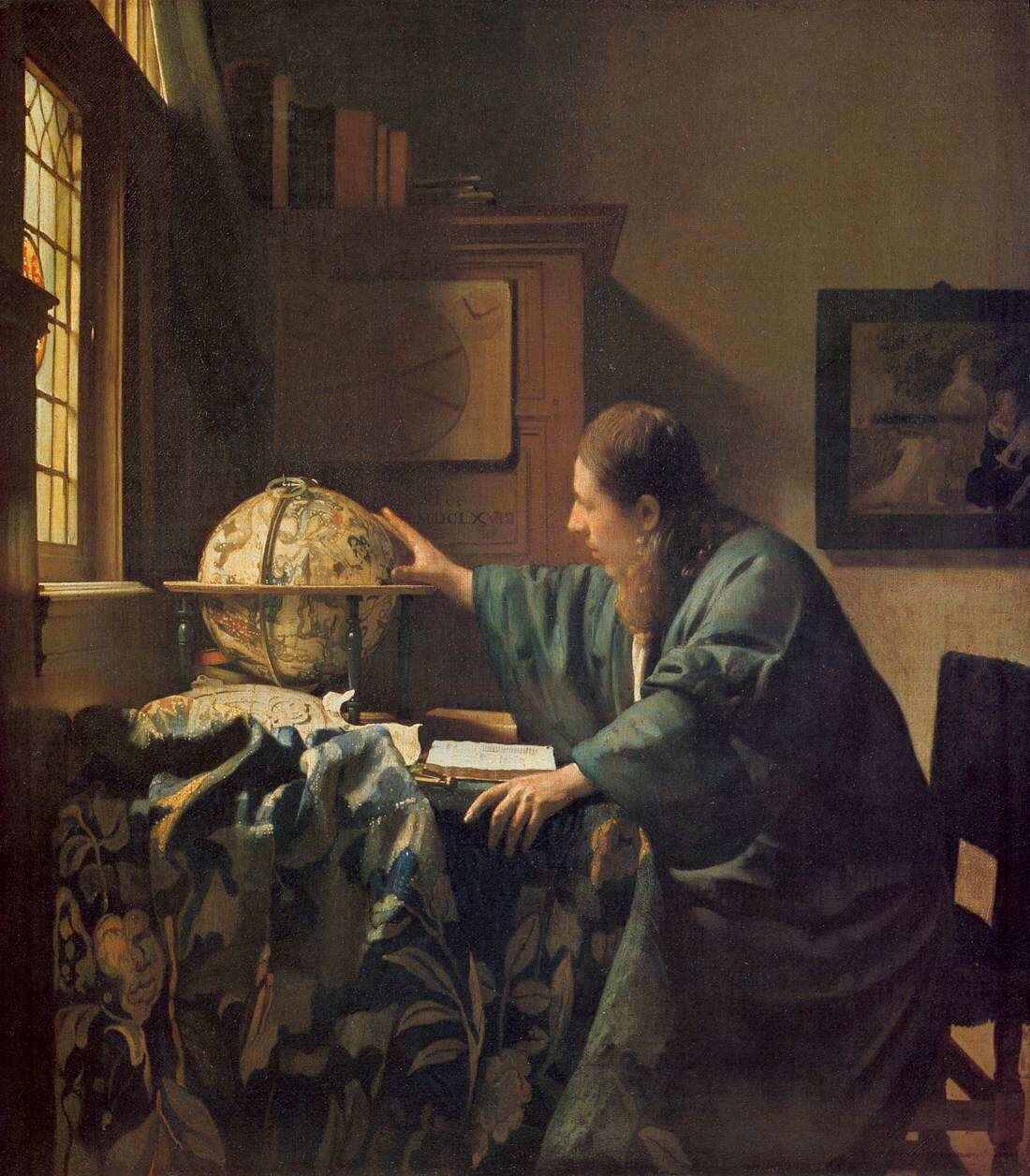 Johannes Vermeer, The Astronomer, ca. 1668. Via Wikimedia Commons.