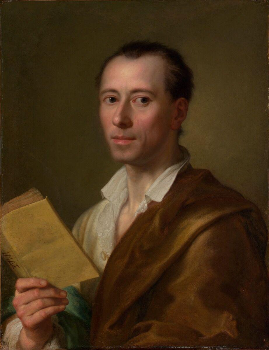 Anton Raphael Mengs, Portrait of Johann Joachim Winckelmann, ca. 1777. Photo via the Metropolitan Museum of Art