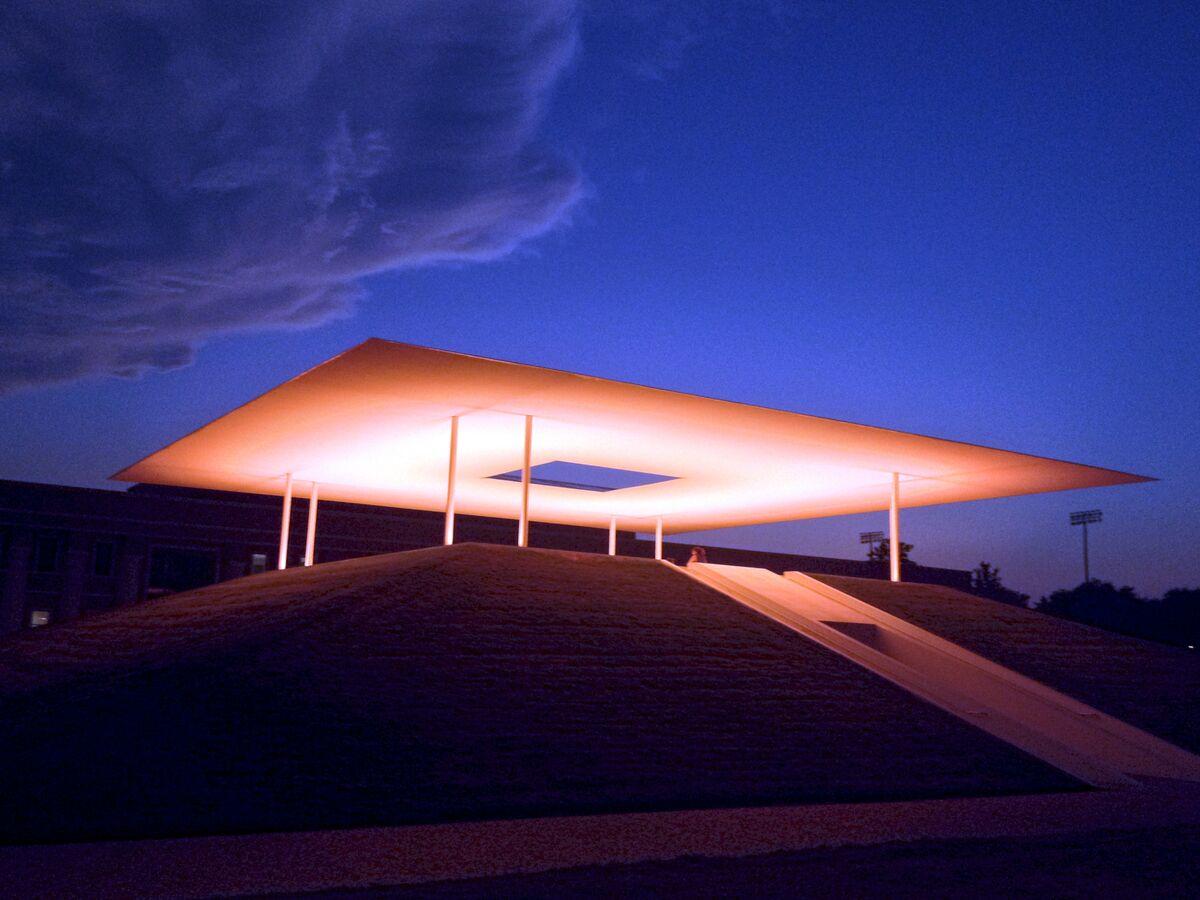 James Turrell's Twilight Epiphany at Rice University. Photo by Adam Baker, via Flickr.