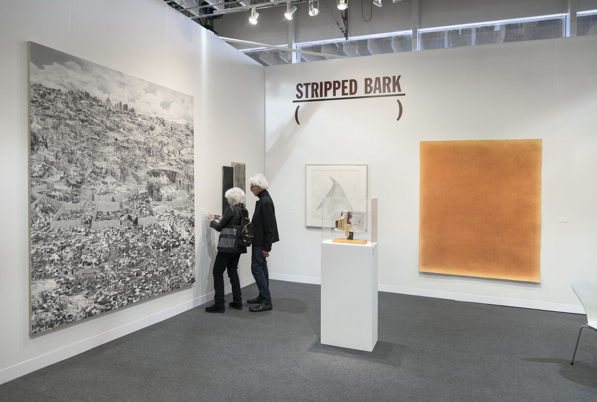 Installation view of Leslie Tonkonow's booth at The Armory Show, 2016. Photo by Adam Reich for Artsy.