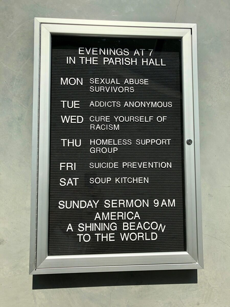 Erika Rothenberg, America, a Shining Beacon to the World, 2018. Courtesy of the artist.