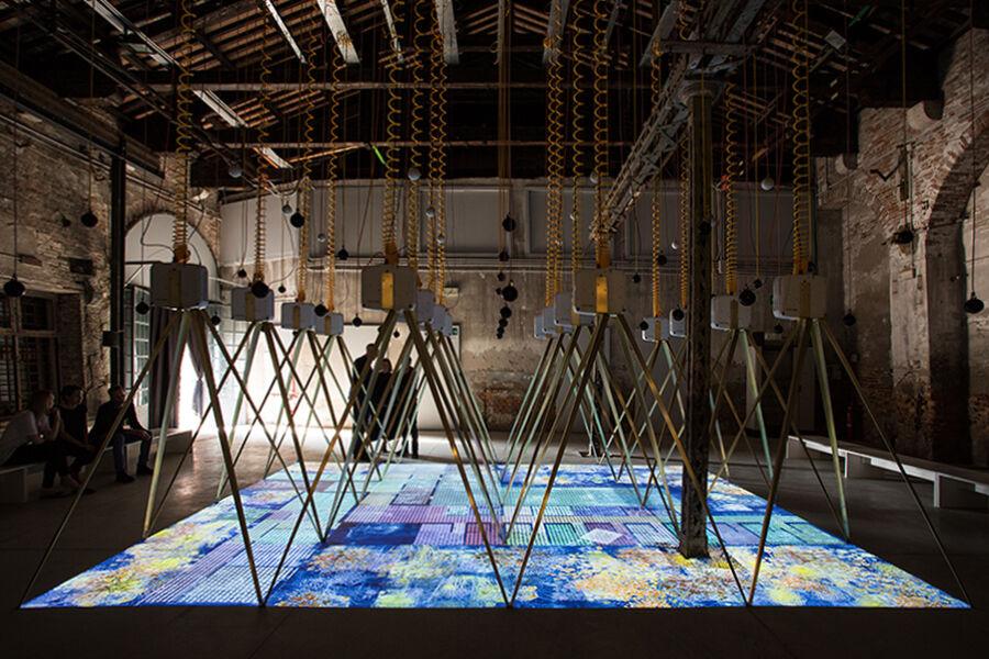 Installation view of the Ireland Pavilion at the 15th International Architecture Exhibition - La Biennale di Venezia 2016. Photo courtesy of the Ireland Pavilion. © Riccardo Tosetto