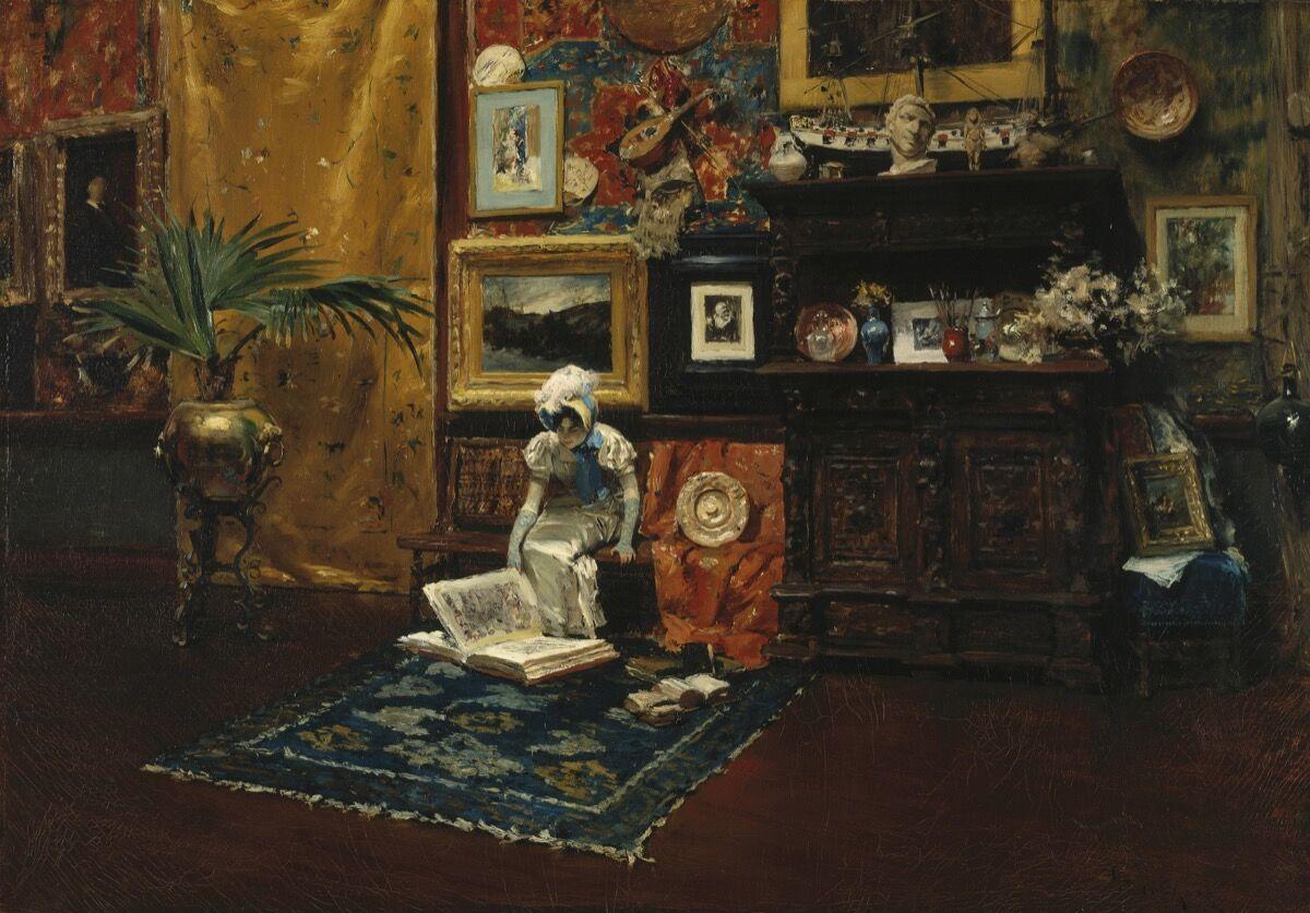 William Merritt Chase,Studio Interior, about 1882. Brooklyn Museum. Image courtesy of Museum of Fine Arts Boston.