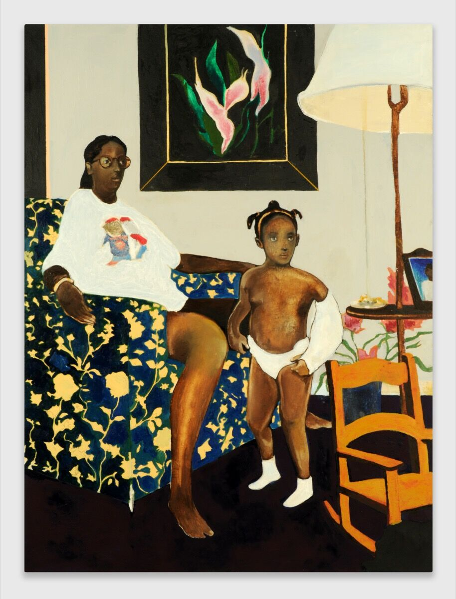 Noah Davis, Single Mother with Father Out of the Picture, 2007-2008. © The Estate of Noah Davis. Courtesy The Estate of Noah Davis.