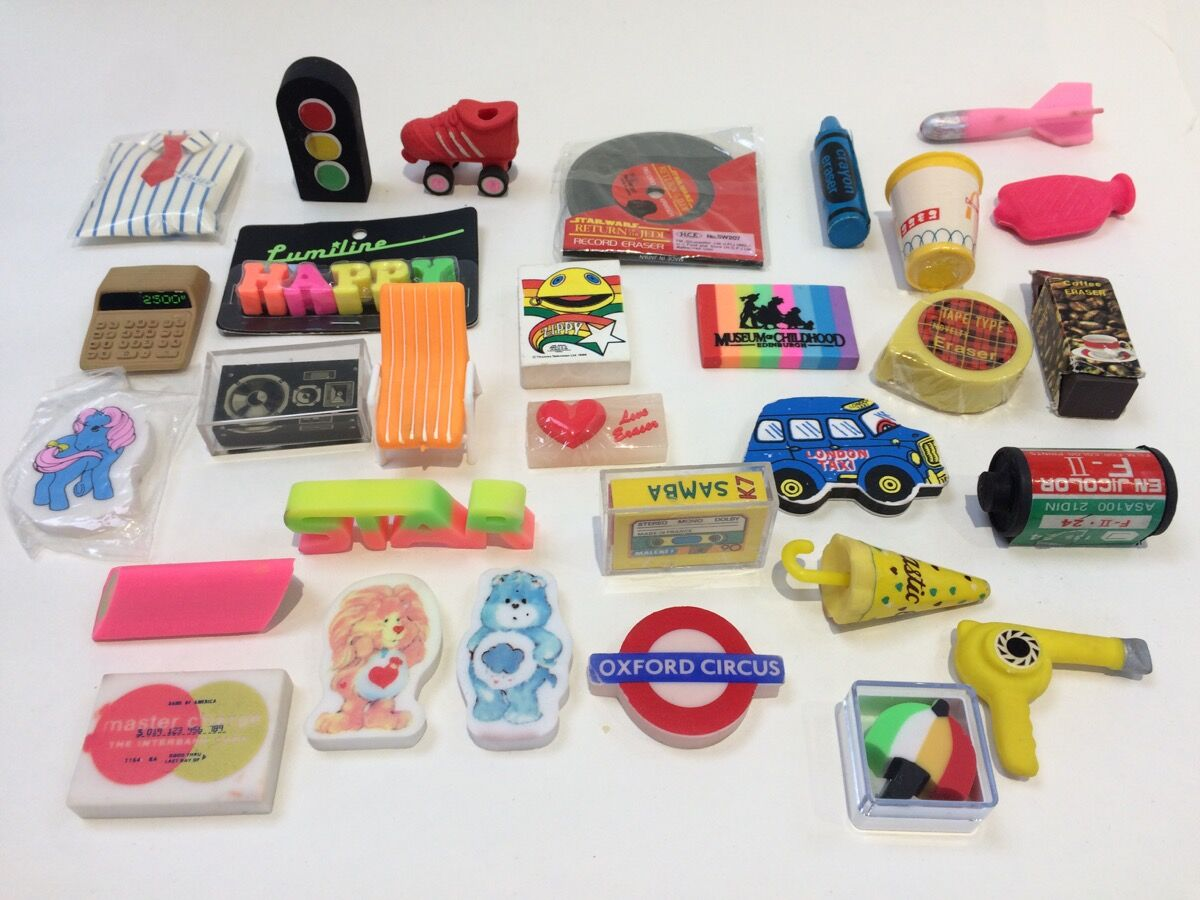 Scented erasers. Courtesy of the Willis Museum.