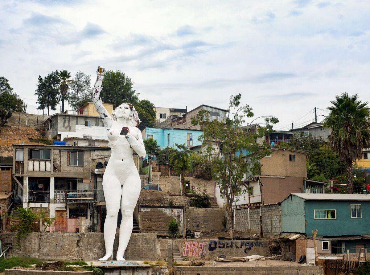 Armando Muñoz Garcia, Tijuana III Millenio, 2016. Photo by Jim Platel. Courtesy of the Craft and Folk Art Museum.