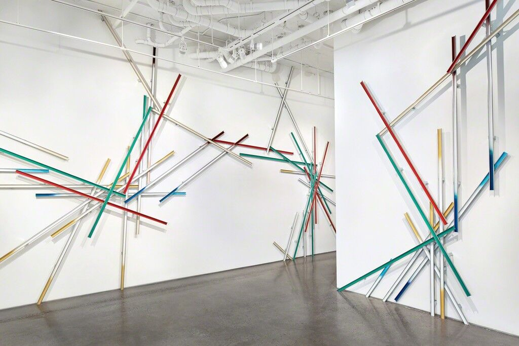 """Installation view""""Slow Boom,""""at Cristin Tierney Gallery, New York, 2015.Courtesy of the artist and Cristin Tierney Gallery, New York.© John Muggenborg /www.johnmuggenborg.com."""