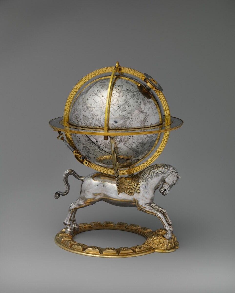 Gerhard Emmoser, Celestial globe with clockwork, 1579. Courtesy of the Metropolitan Museum of Art.