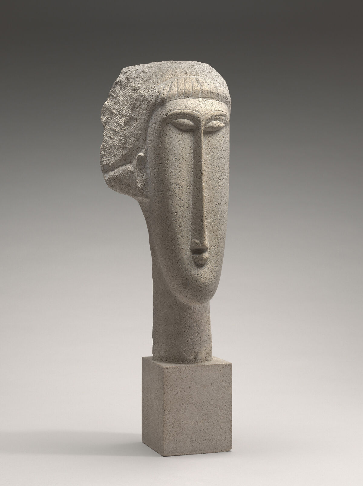 Amedeo Modigliani, Head of a Woman, 1910-11. National Gallery of Art, Washington, DC, Chester Dale Collection. Courtesy of the Jewish Museum.