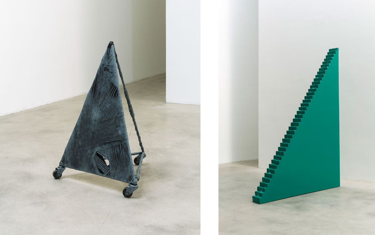 Left: Nabuqi, Object No.6, 2014; Right: Nabuqi, A View Beyond Space No.5, 2015. Images courtesy of C-Space.