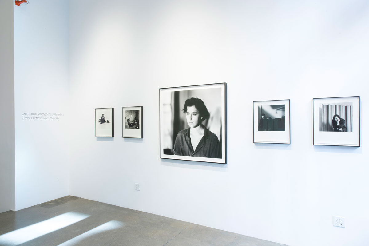 """Jeannette Montgomery Barron, installation view of """"Artist Portraits from the 80's"""" at Patrick Parrish Gallery, 2020. Courtesy of the artist and Patrick Parrish Gallery, New York."""