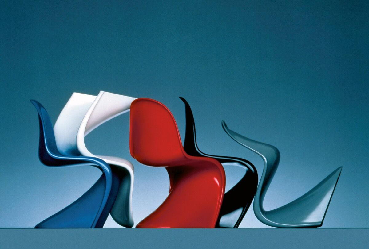 Verner Panton, The Panton Chair, 1959. Courtesy of Phaidon and the Vitra Design Museum's archives, Germany.