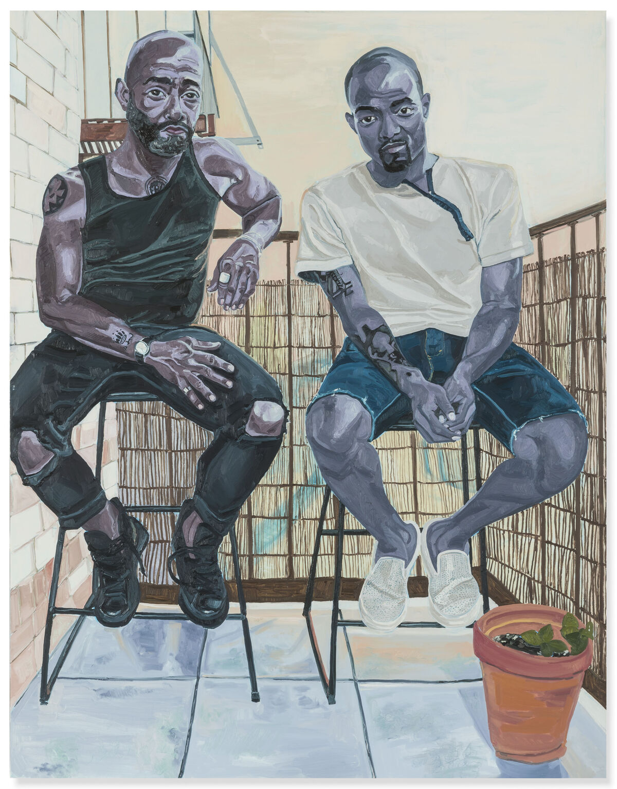 Jordan Casteel, Patrick and Omari, 2015. Courtesy of Christie's Images Ltd. 2019.