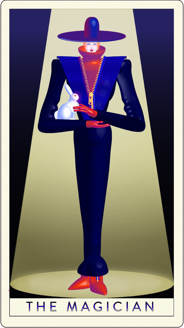 John Lisle, The Magician, from the reimagined female Tarot cards. Courtesy of the artist.