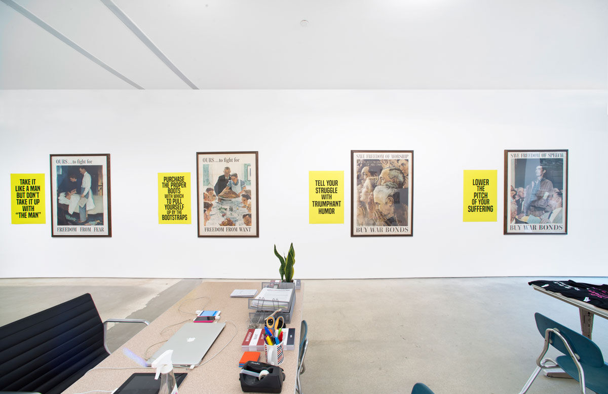 """Installation view of """"For Freedoms"""" at Jack Shainman Gallery, New York. Photo courtesy of For Freedoms."""