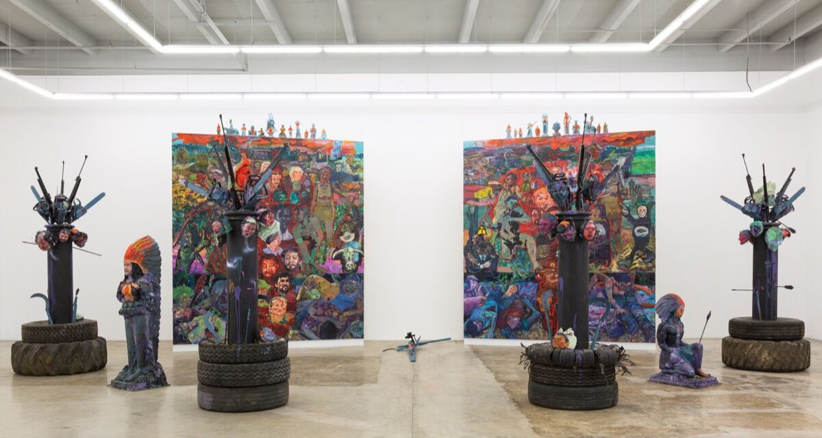 Installation view of Thiago Martins de Melo's Martyrdom, 2014. Photo courtesy of Rubell Family Collection.