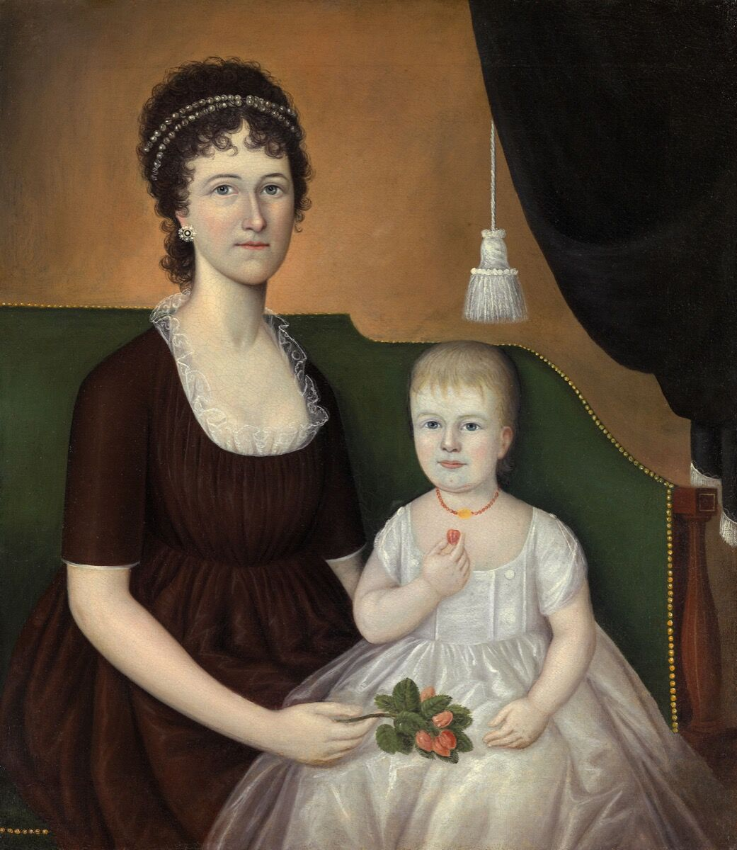Joshua Johnson, Elizabeth Grant Bankson Beatty (Mrs. James Beatty) and Her Daughter Susan, c. 1805. Courtesy of Art Institute of Chicago.