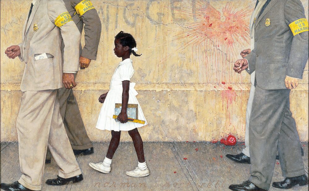 Norman Rockwell, The Problem We All Live With, 1963. Illustration for Look, January 14, 1964. Courtesy of the Norman Rockwell Museum and the New York Historical Society Museum & Library.