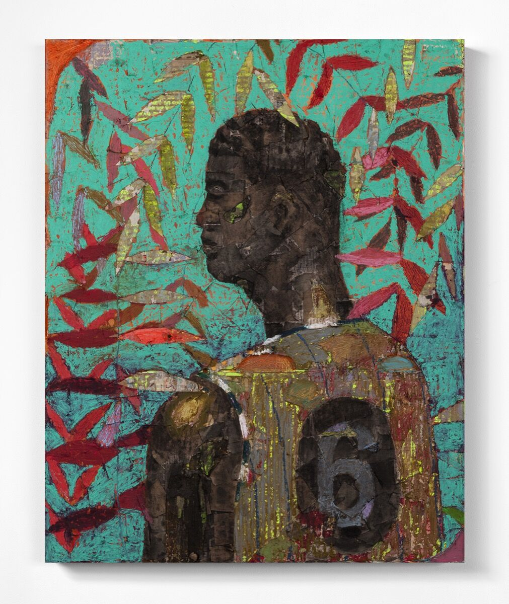 Derek Fordjour, No. 73, 2017. Courtesy the artist and Luce Gallery. Courtesy of Dallas Art Fair.