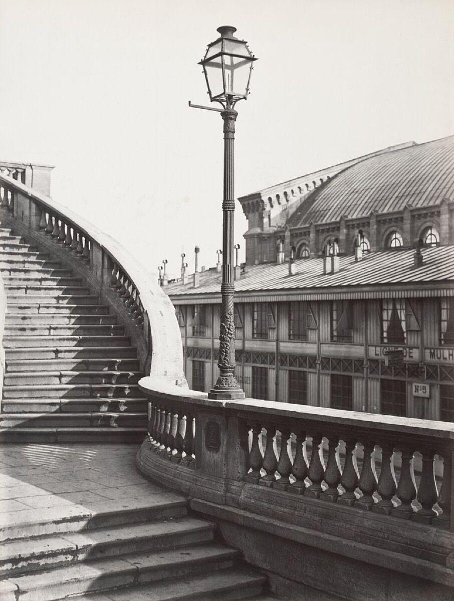 Charles Marville, Chemin de fer de l'Est (Rampe de l'escalier) no. 70, 1878. Image via Wikimedia Commons.